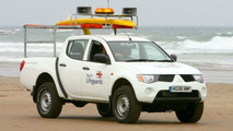 Mitsubishi L200 on UK Beach Patrol
