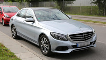 2015 Mercedes C-Class plug-in hybrid spied undisguised