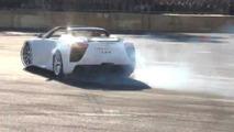 SURPRISE! Lexus LFA Roadster makes appearance at drift event