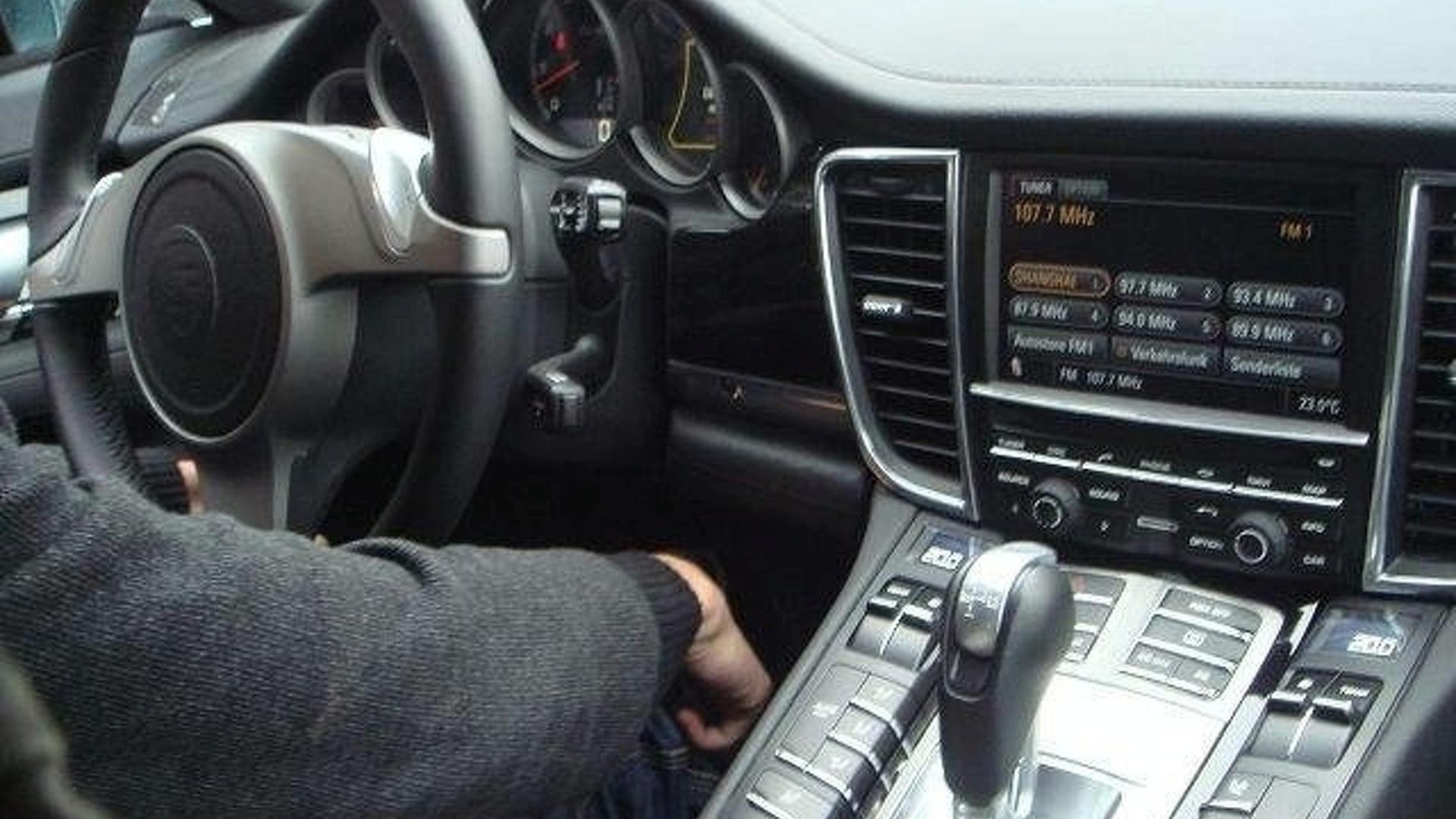 Porsche Panamera Interior Spied From Passenger Seat