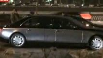 Maybach 62 and Bentley Continental crash