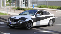 Mercedes Benz C-Coupe spied in white