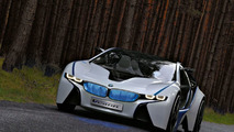 BMW Megacity EV sports car on the table