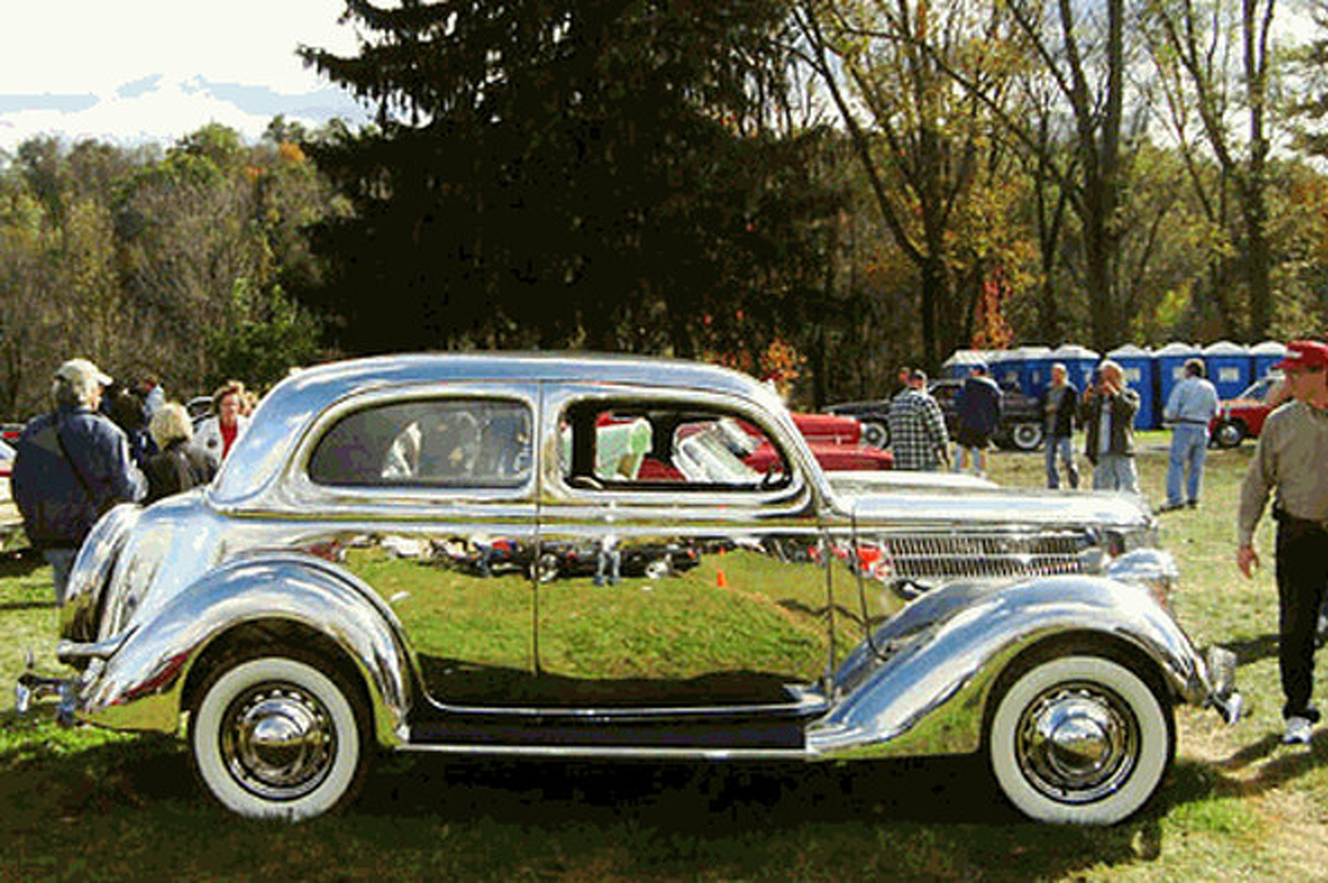 Stainless Steel Ford Tudor Sedan is Old School Bling