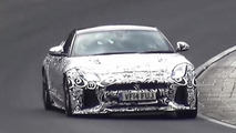 Jaguar F-Type SVR spied testing hard on the 'Ring [video]