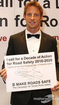 Jenson Button, Decade of Action for Road Safety campaign, 2009 FIA Gala prize giving ceremony, Monaco