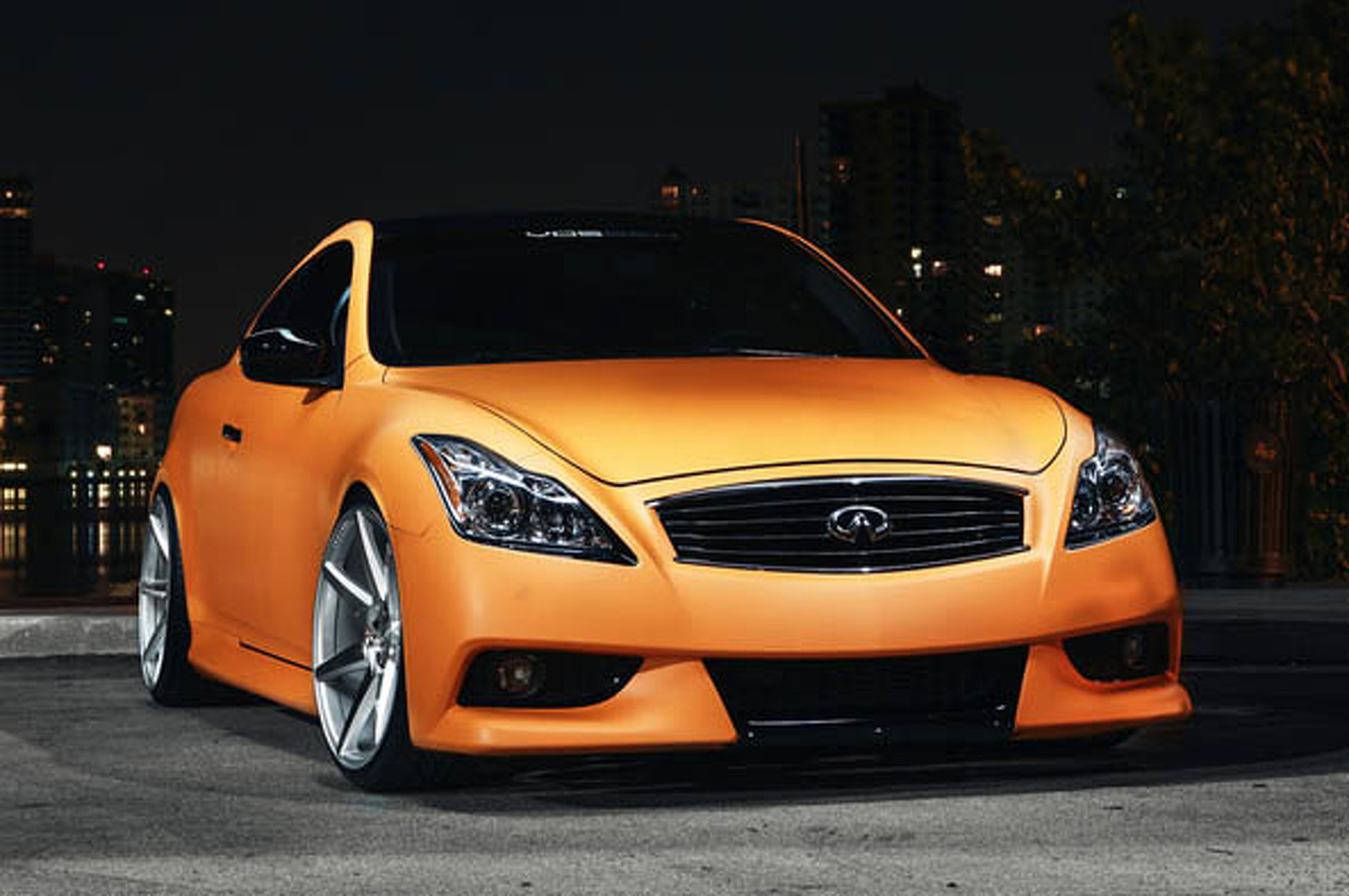 Vossen Infiniti G37 Receives an Epic Orange Makeover