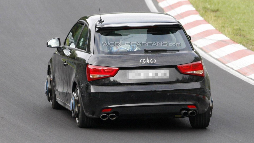 Audi S1 spied dynamic testing on the Nurburgring Nordschleife