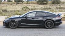 2017 Bentley Continental GT spied hiding underneath shortened Porsche Panamera body