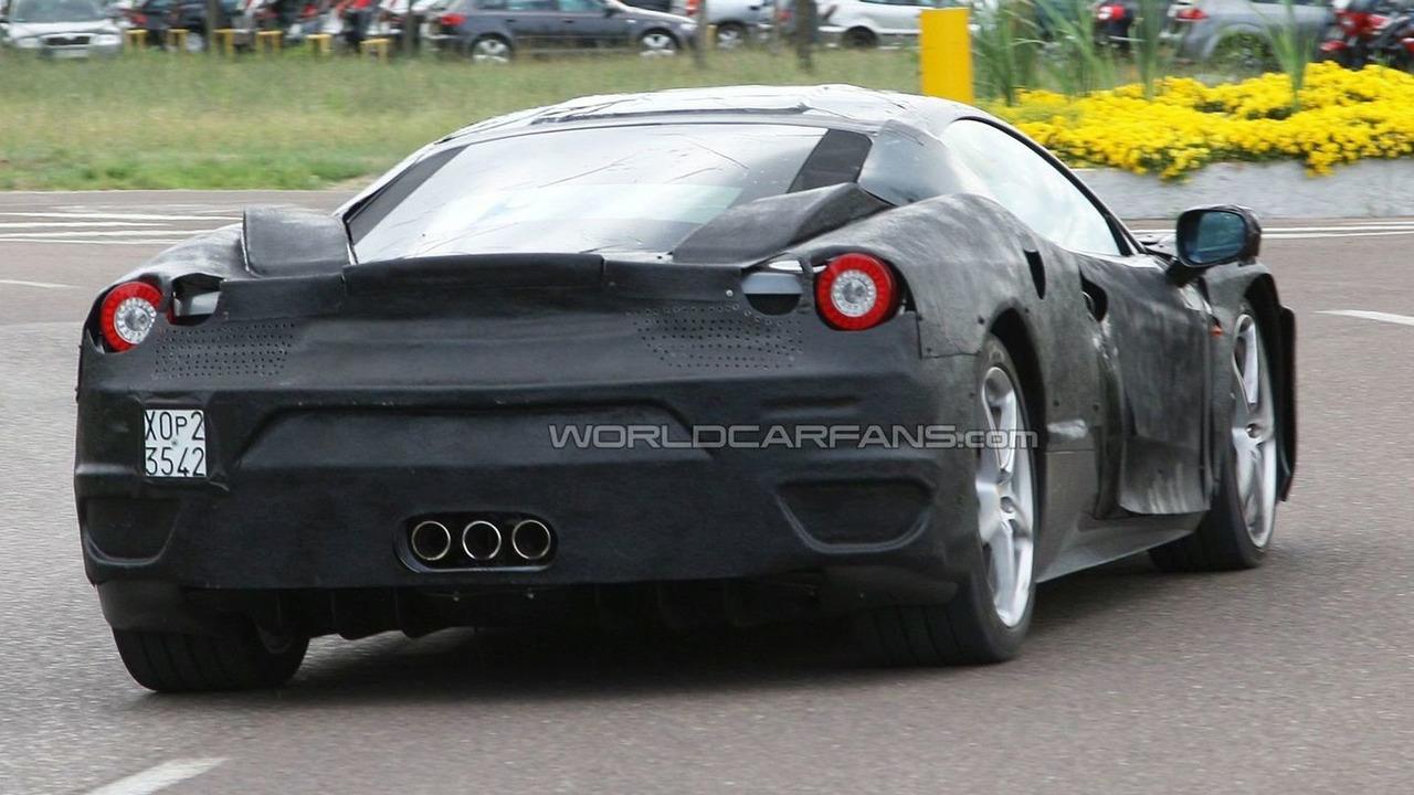 Ferrari F450 full body prototype spy photo