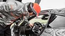 Sergio Perez and McLaren P1 at Top Gear test track