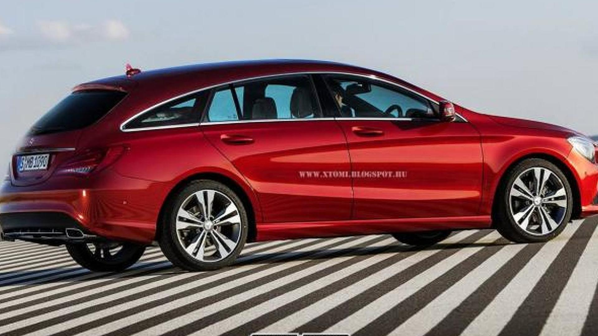 Mercedes-Benz CLA Shooting Brake rendered based on spy pics