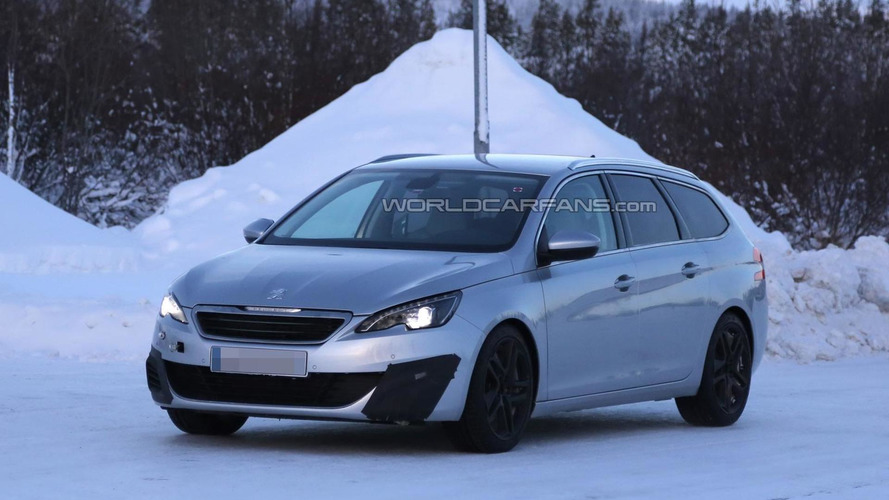 Peugeot 308 SW GTI hot wagon spied during winter tests