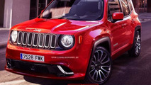 Jeep Renegade SRT gets rendered