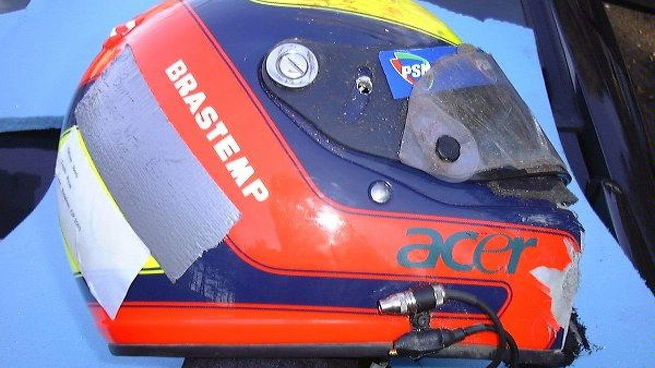 Luciano Burti helmet, German grand prix, Hockenheim 29.07.2001
