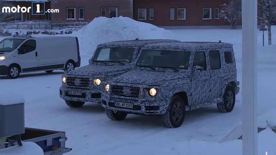 2018 Mercedes G-Class spied on video during snowy test