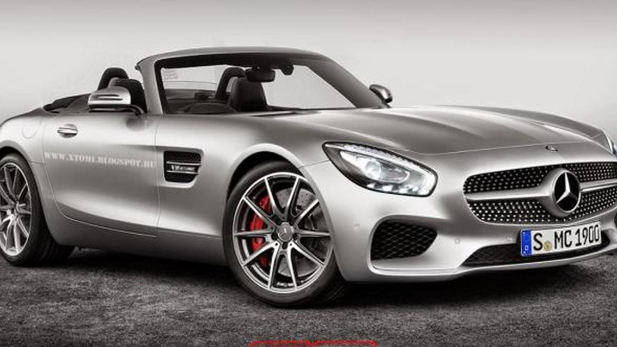 Mercedes-AMG GT rendered with no roof