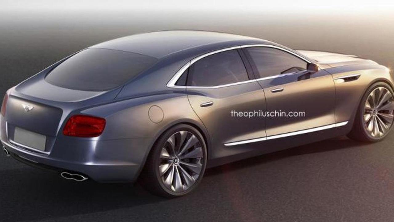 Bentley entry-level sedan rendering / Theophilus Chin