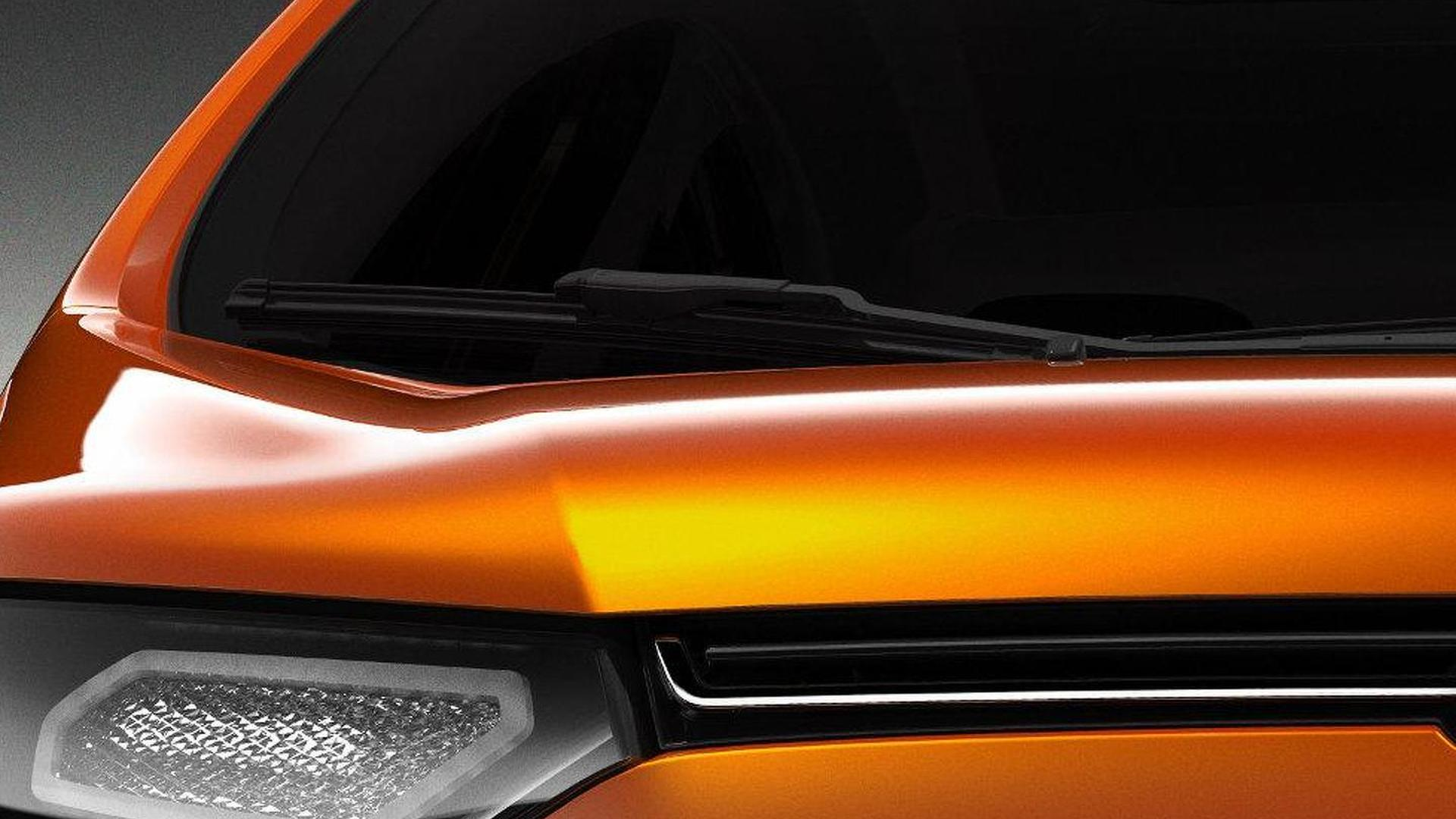 Ford EcoSport compact SUV teased for New Delhi debut