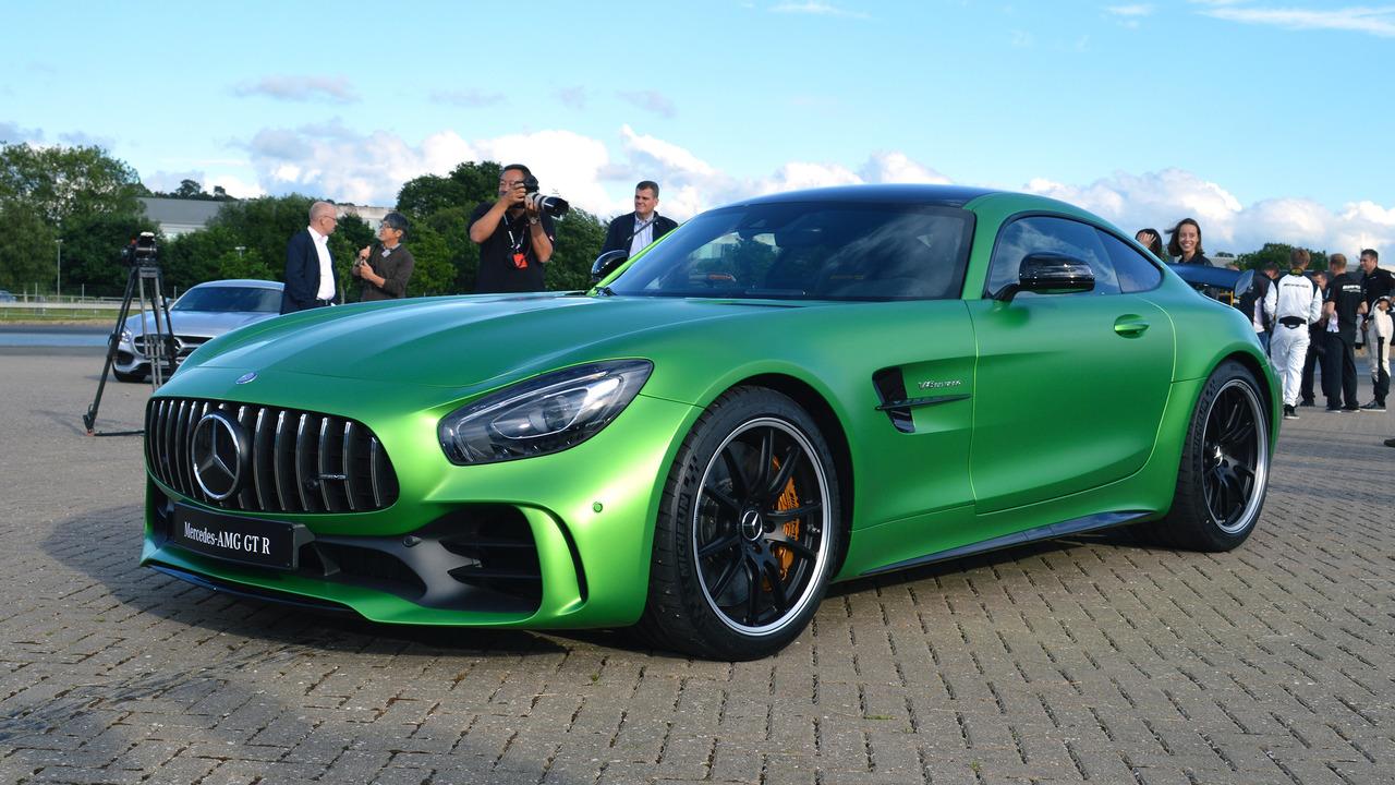 Lewis Hamilton Helps Launch Mercedes Amg Gt R Plus New