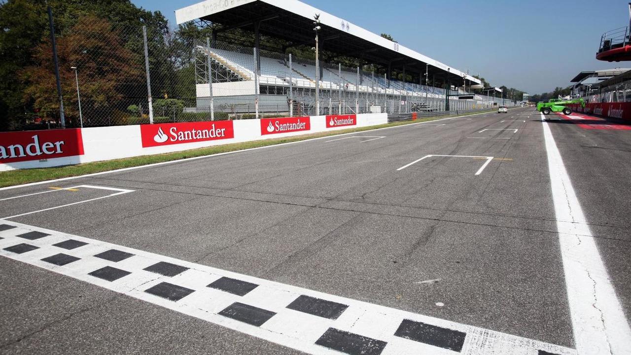The finish line. Italian Grand Prix, Monza, Italy