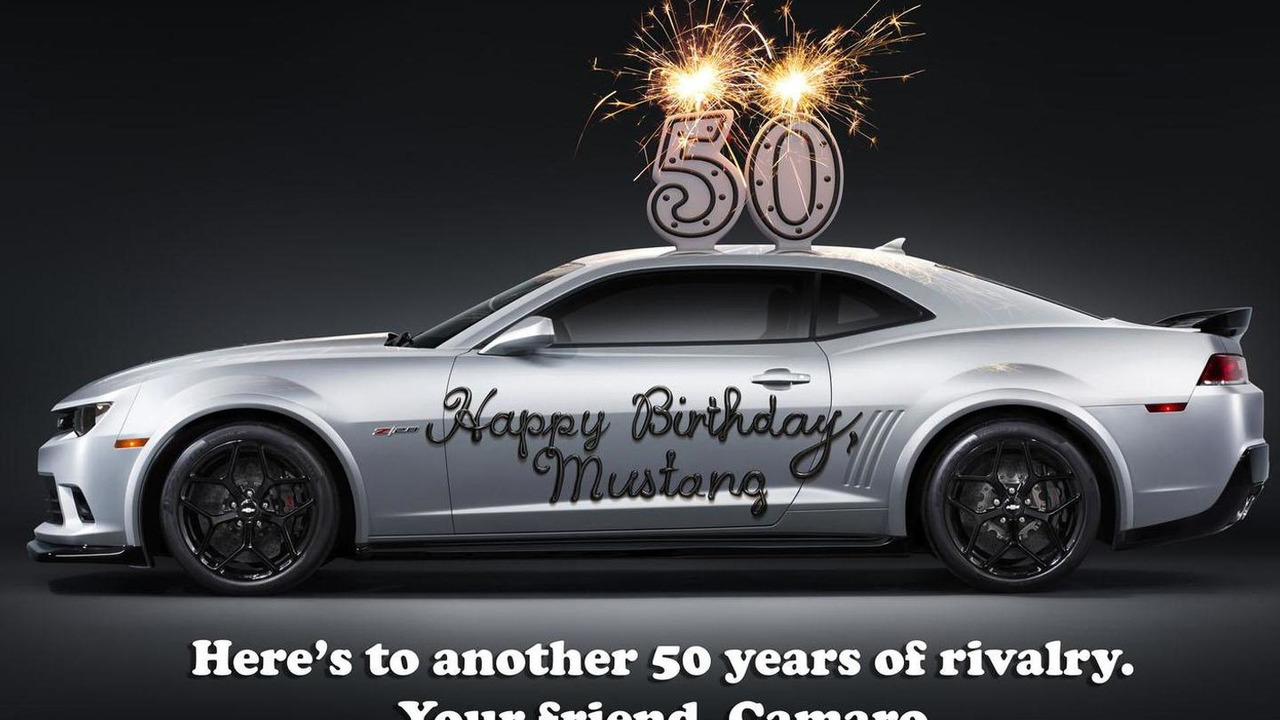 Chevrolet pays tribute to the Mustang's 50th anniversary