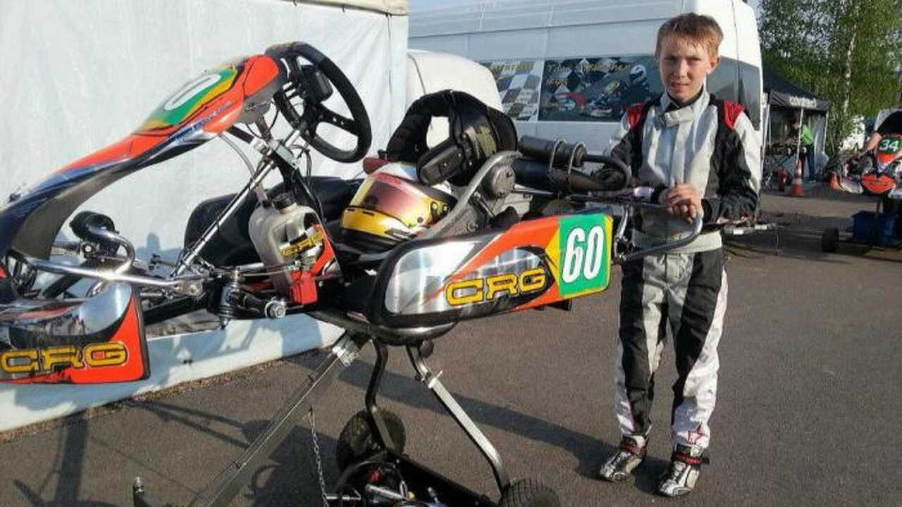 Aleksi Potter junior karting driver
