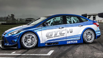 Global Touring Car Series shows off first race car, a V8 500 bhp Ford Focus Sedan lookalike
