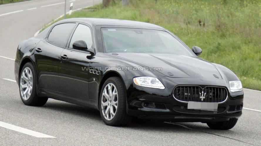 Maserati Quattroporte mule spied testing new engine