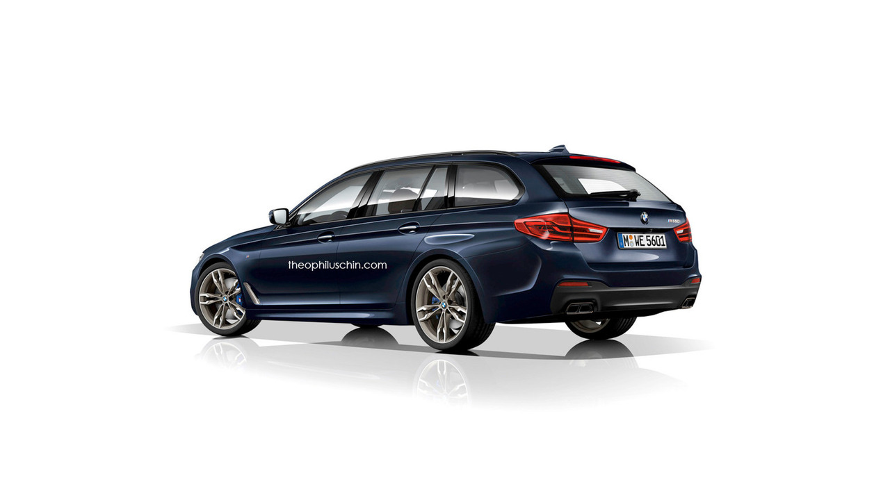 2017 bmw 5 series already rendered as m5 and touring wagon. Black Bedroom Furniture Sets. Home Design Ideas