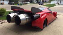 Ferrari Enzo jet car Insanity