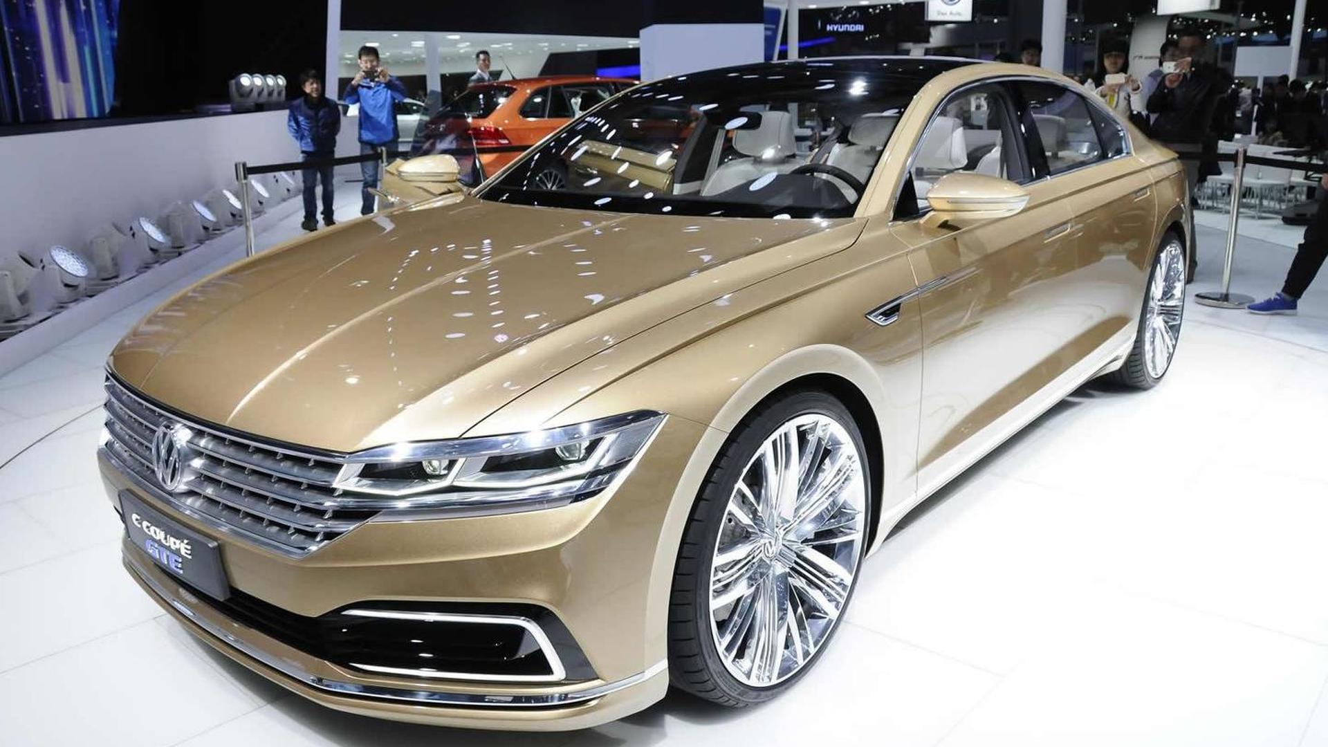 Volkswagen C Coupe GTE concept flaunts its sleek body in Shanghai