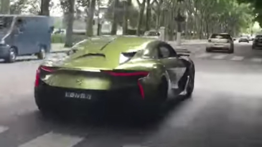 Citroën DS E-Tense spotted driving in Paris with film crew