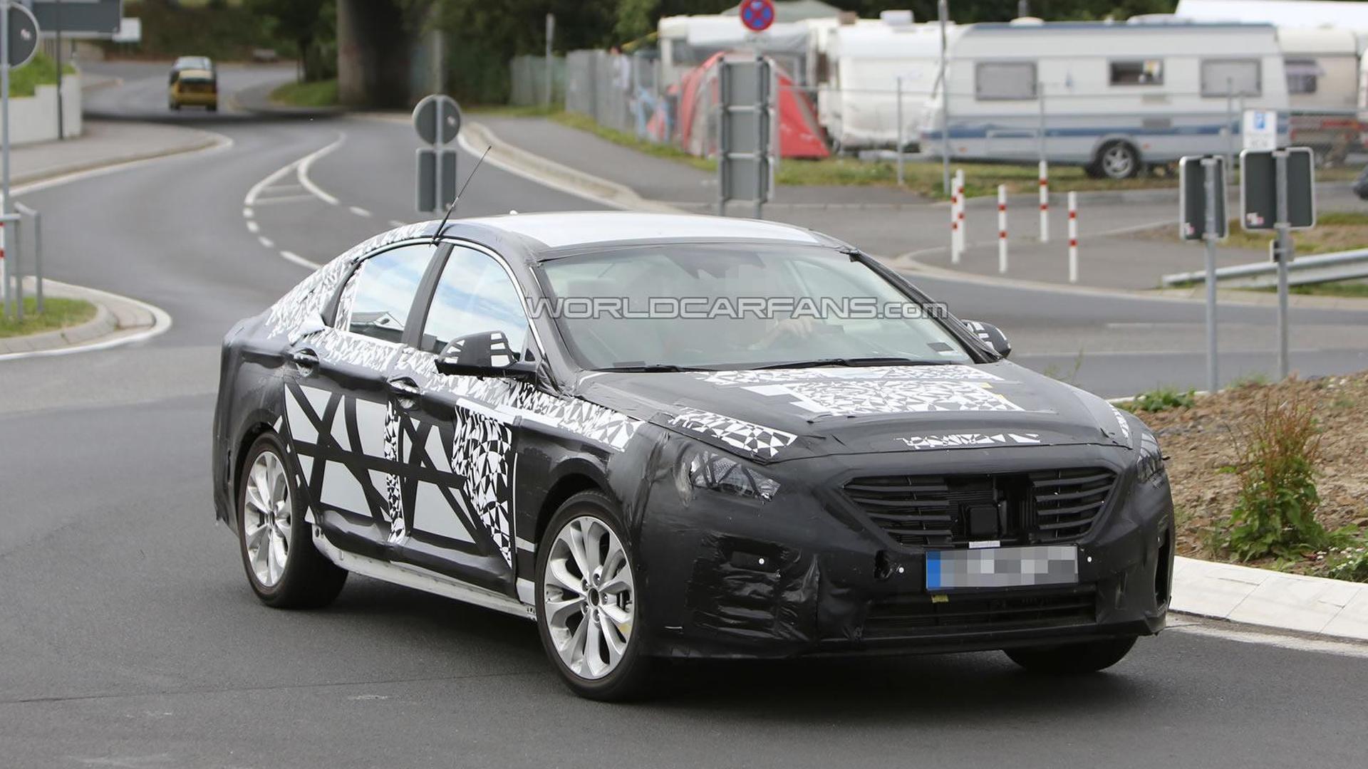 2015 Hyundai Sonata spied testing