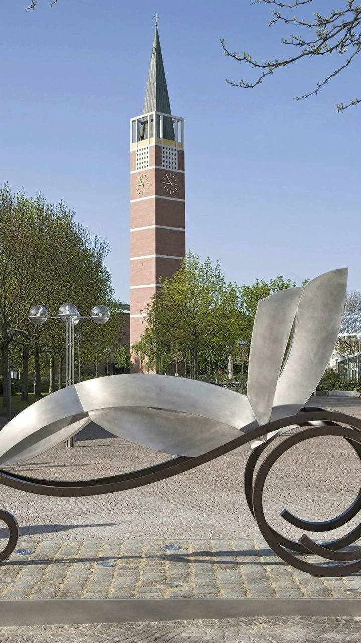 Bertha Benz commemorative sculpture in Pforzheim