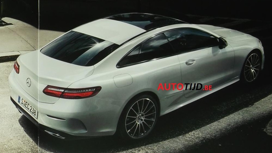 2018 Mercedes E-Class Coupe leaked brochure shows it all