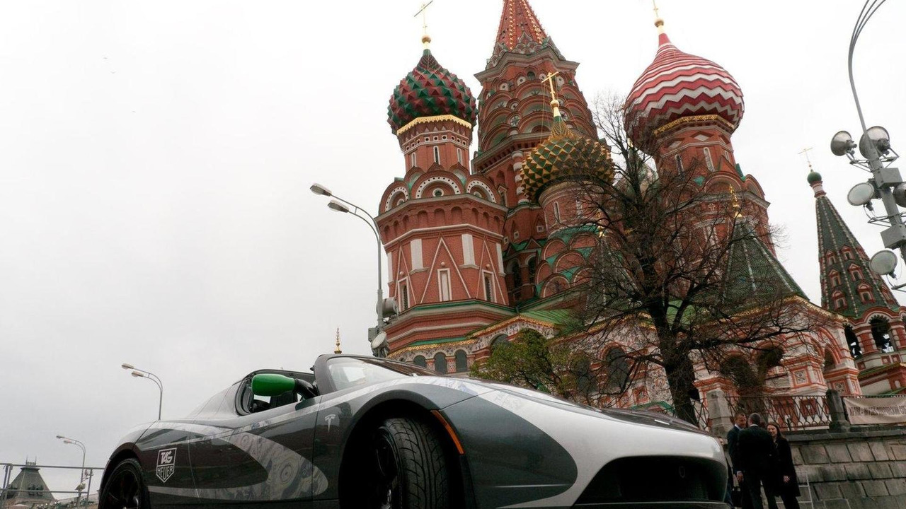 2010 TAG Heuer Tesla Roadster in Moscow 29.09.2010