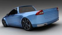 3D Rendered: Volvo V70 pickup aka Volvomino
