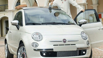 Felipe Massa with his unique 120 hp Fiat 500