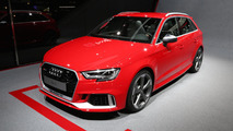Facelifted Audi RS3 hatchback brings its boot to Geneva