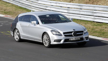 Mercedes CLS Shooting Brake prototype spied on Nurburgring