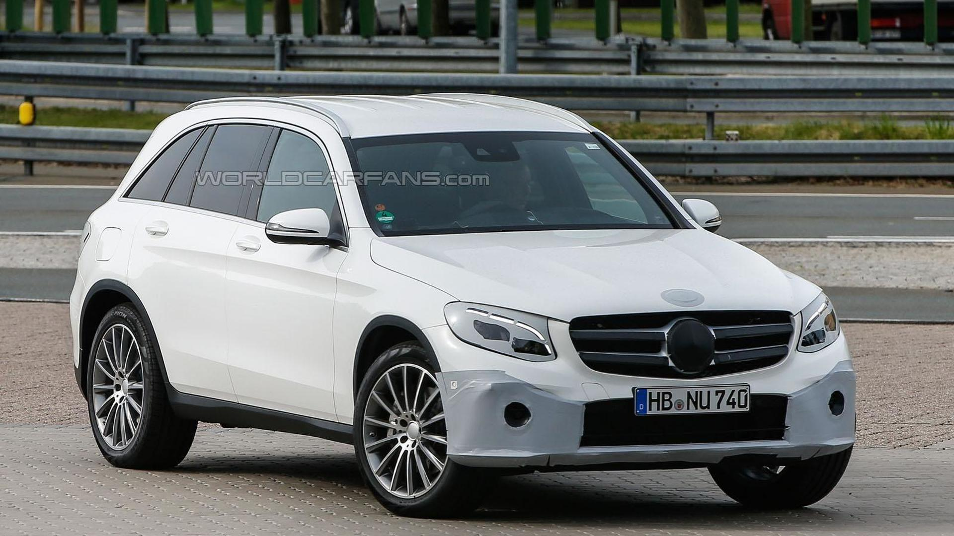 Mercedes GLC spied with minimal camouflage
