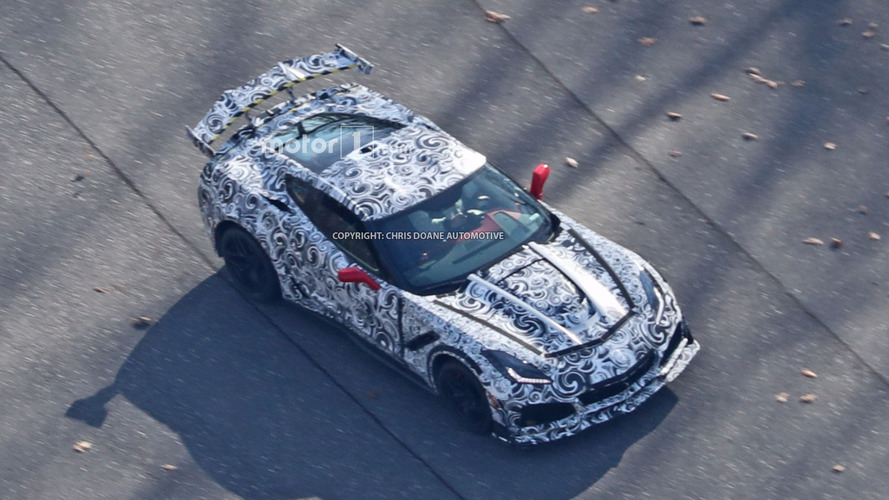 Chevy Corvette ZR1 gets spied from the sky