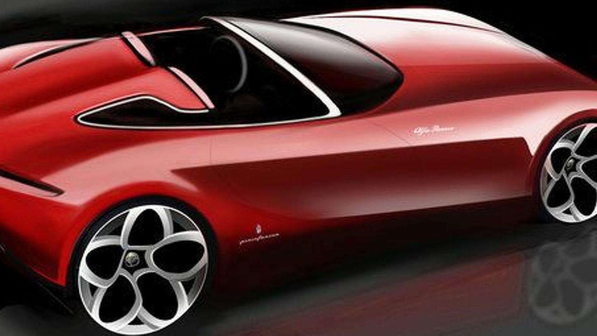 Pininfarina Releases Second Alfa Romeo Spider Concept Teaser Sketch
