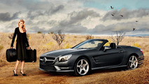 Lara Stone hooks up with Mercedes SL Roadster [video]