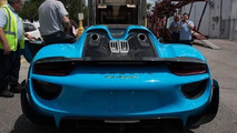 Porsche 918 Spyder Riviera Blue with Weissach Package