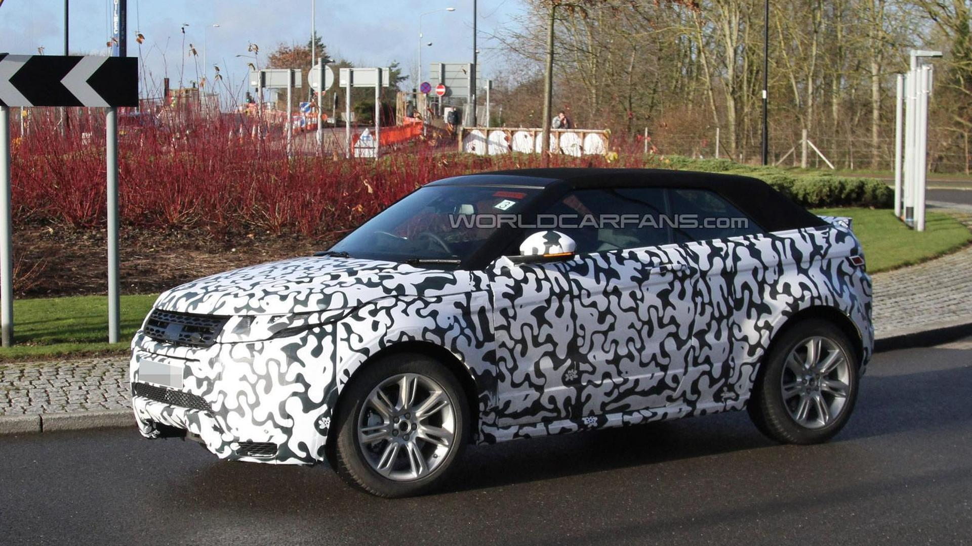2016 Range Rover Evoque Cabrio spied testing in UK