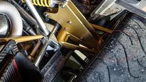 Pagani Huayra tires used for Top Gear power lap - note tread depth wear indicator holes same as race slicks on Pagani Zonda R