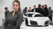 Student Vanessa Woznik from the University of Art and Design Offenbach with her GT concept 26.11.2012