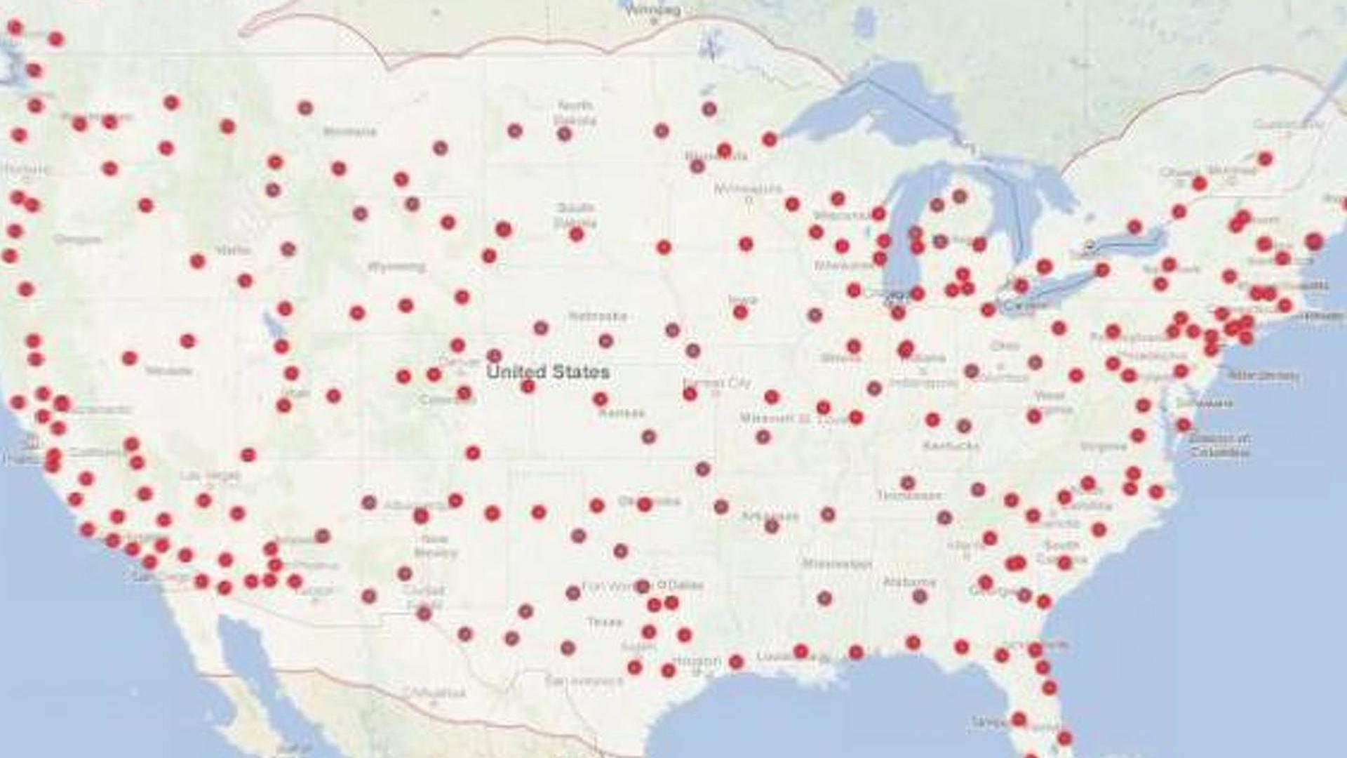 Tesla Supercharger network to cover most of Canada & U.S. in a year